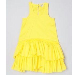 Eliane et Lena Valence Yellow Ruffle Hem Dress